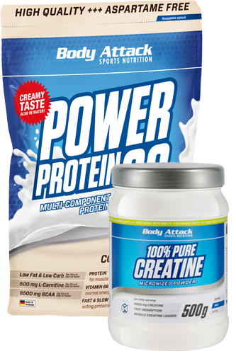 Muscle growth Duo - Creatine plus Power Protein 90