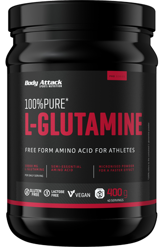 Body Attack 100% Pure L-Glutamic acid - 400g
